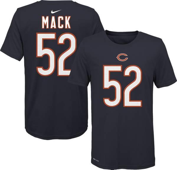 Nike Youth Chicago Bears Khalil Mack #52 Logo Navy T-Shirt product image