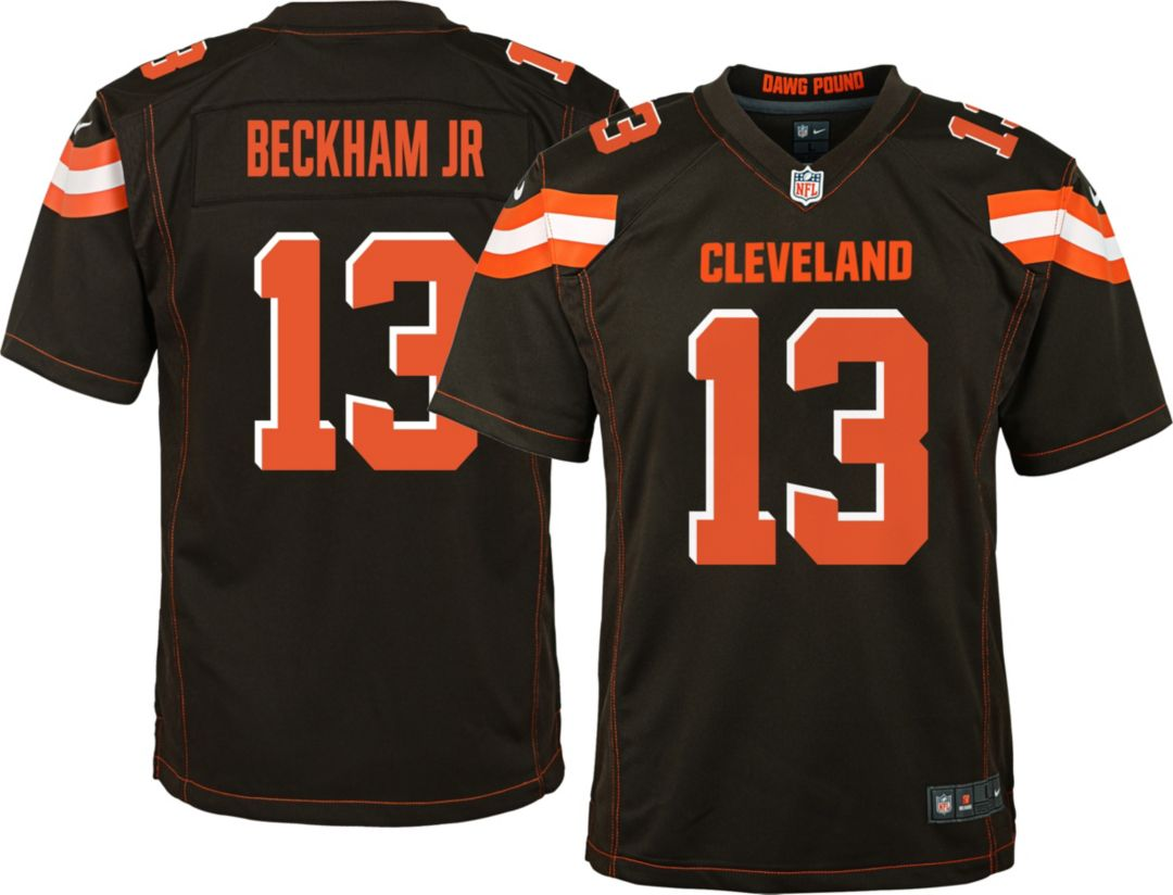 02dc86194 Odell Beckham Jr. #13 Nike Youth Cleveland Browns Home Game Jersey ...