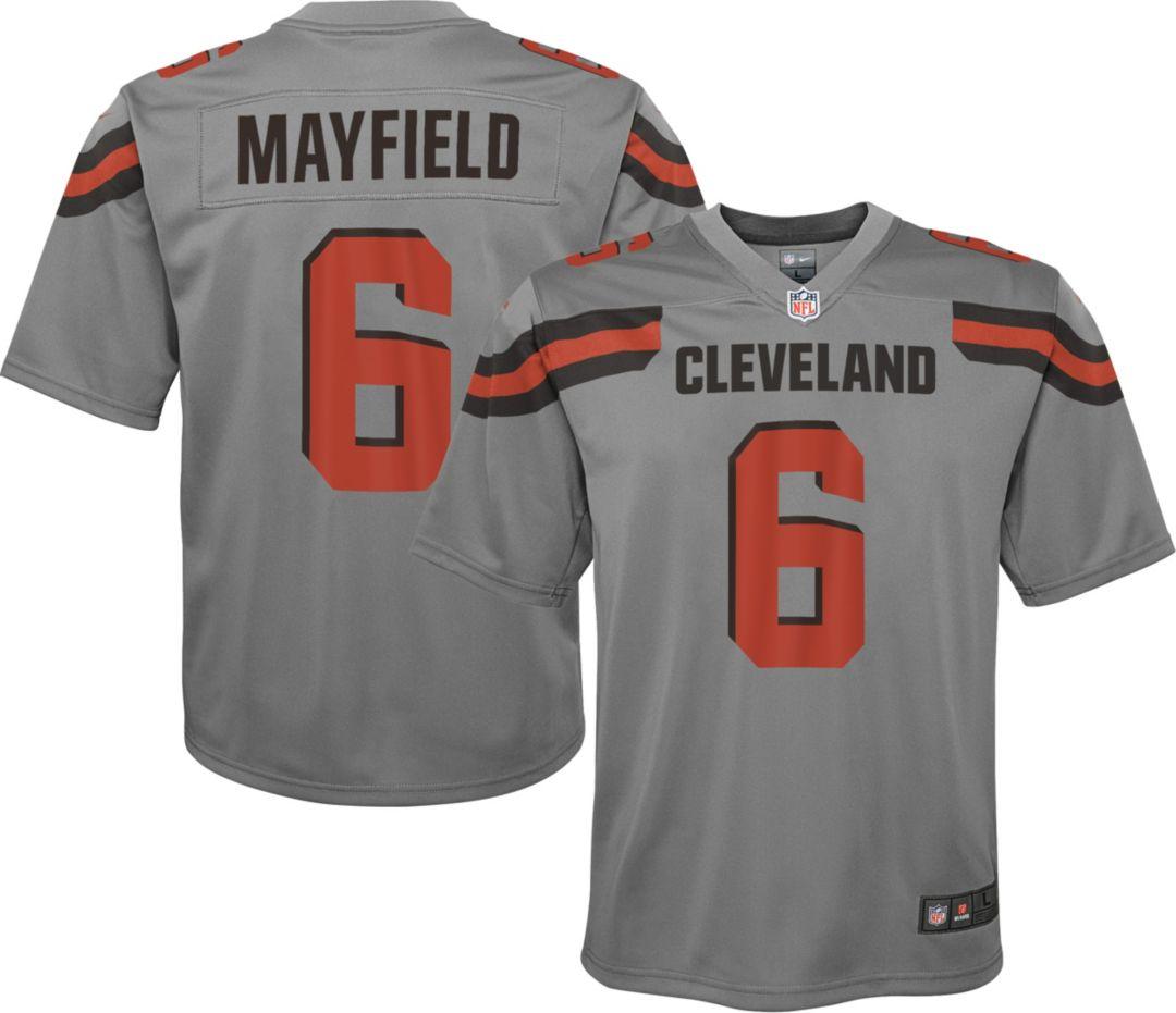 e897f433 Nike Youth Alternate Legend Jersey Cleveland Browns Baker Mayfield #6