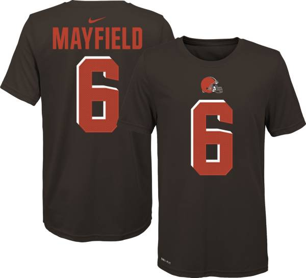 Nike Youth Cleveland Browns Baker Mayfield #6 Pride Brown T-Shirt product image