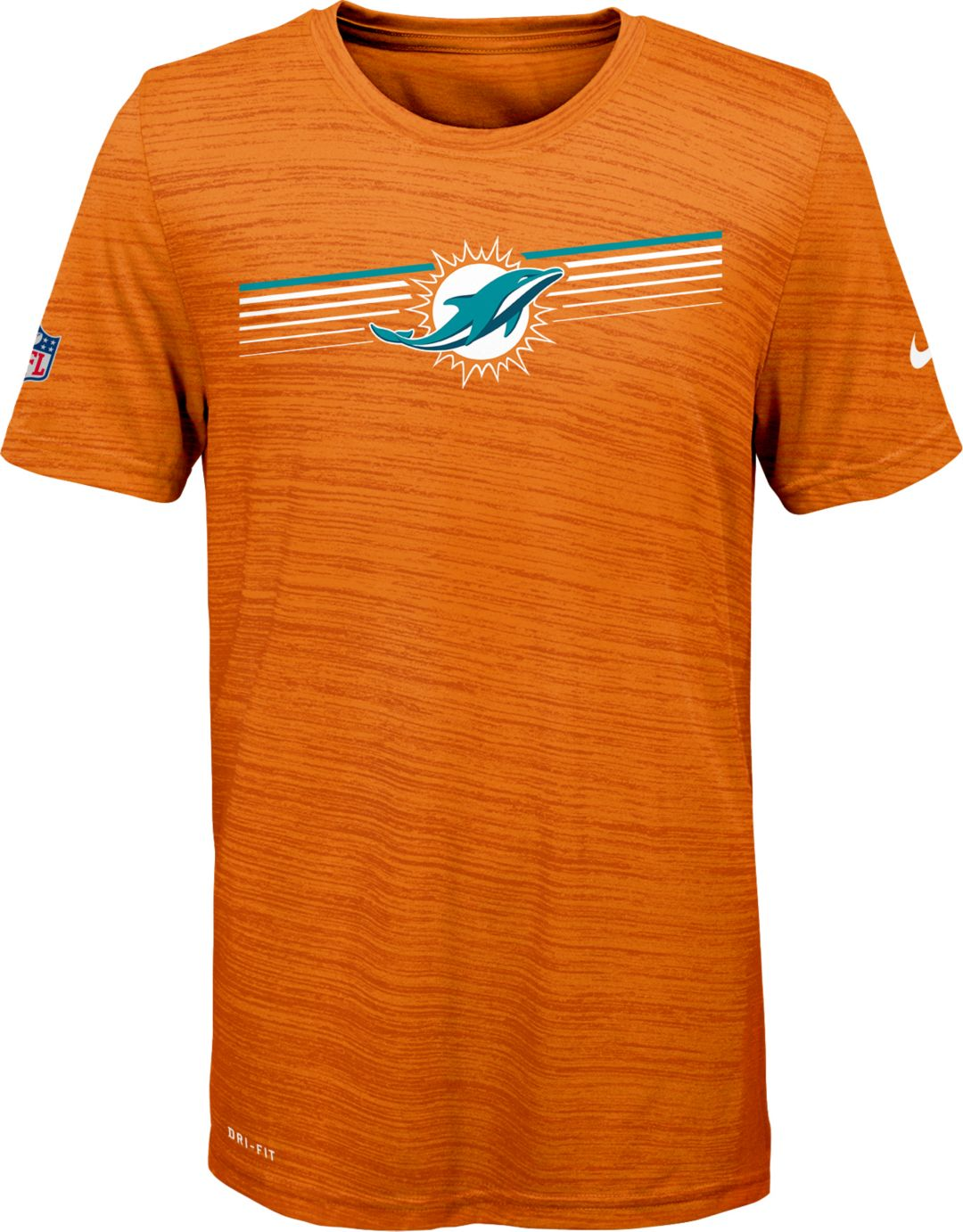 a177ff0e Nike Youth Miami Dolphins Legend Velocity Performance T-Shirt