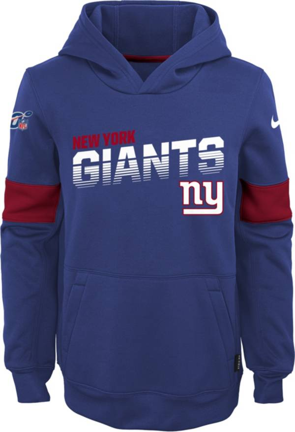 Nike Youth New York Giants 100th Sideline Therma-FIT Navy Pullover Hoodie product image