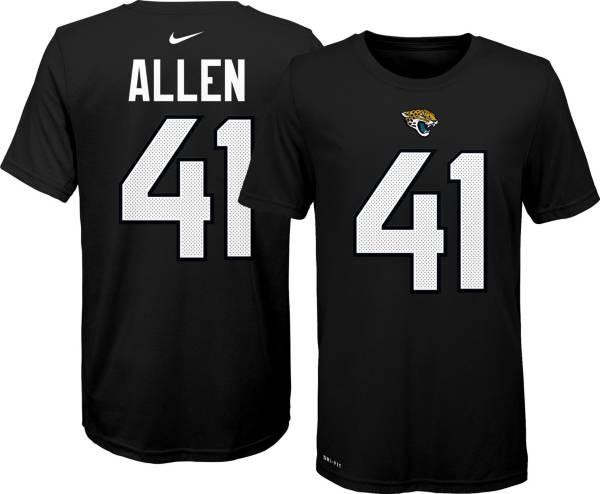 Nike Youth Jacksonville Jaguars Josh Allen #41 Logo Black T-Shirt product image
