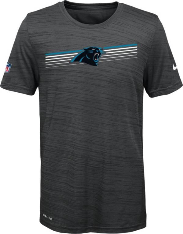 Nike Youth Carolina Panthers Legend Velocity Performance Black T-Shirt product image