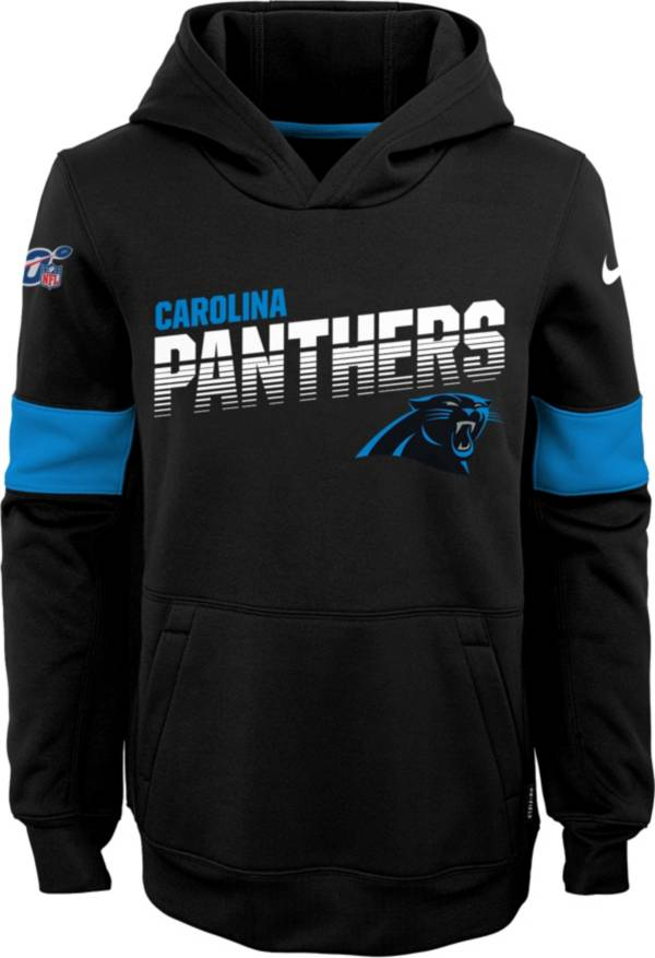 Nike Youth Carolina Panthers 100th Sideline Therma-FIT Black Pullover Hoodie product image