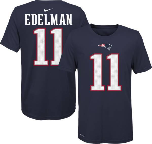 Nike Youth New England Patriots Julian Edelman #11 Logo Navy T-Shirt product image