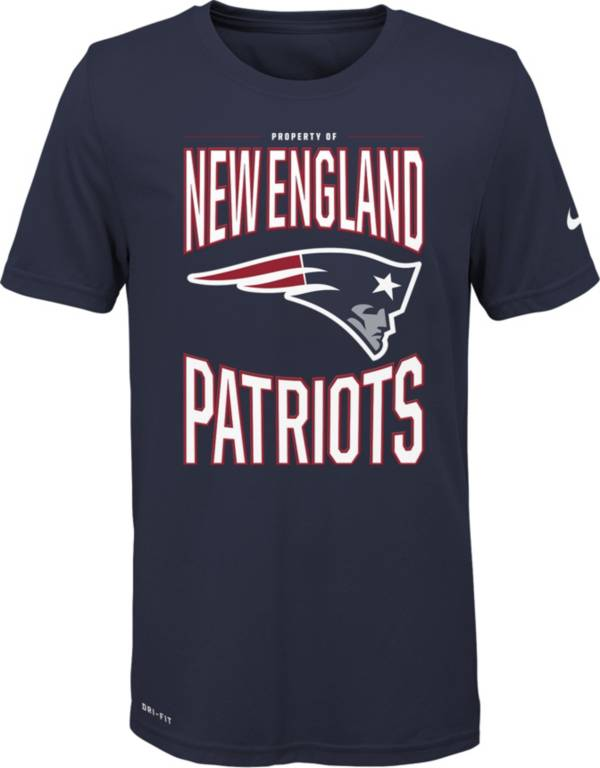 Nike Youth New England Patriots Sideline Property Of Navy T-Shirt product image