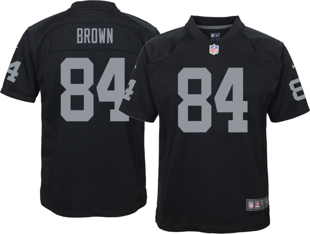 b40a28eb Antonio Brown #84 Nike Youth Oakland Raiders Home Game Jersey ...