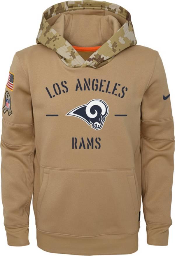 Men/'s Los Angeles Rams Sweatshirt Salute to Service Sideline Therma Hoodie