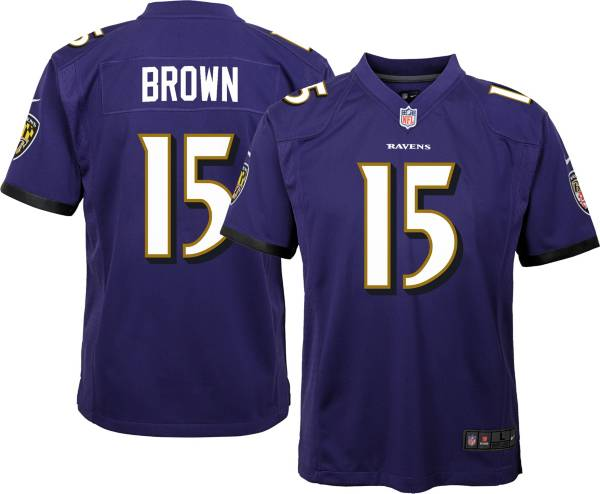 Nike Youth Baltimore Ravens Marquise Brown #15 Purple Game Jersey product image