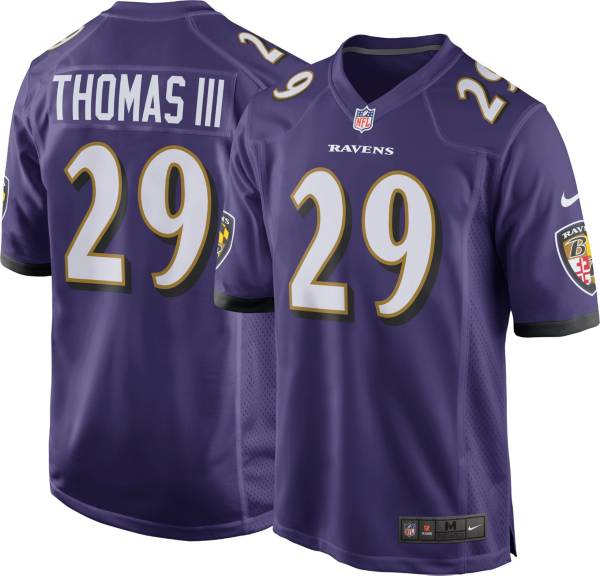 Nike Youth Baltimore Ravens Earl Thomas 29 Purple Game Jersey Dick S Sporting Goods