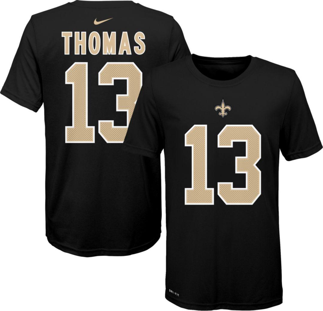 best value 8c8af 1380b Nike Youth New Orleans Saints Michael Thomas #13 Logo Black T-Shirt
