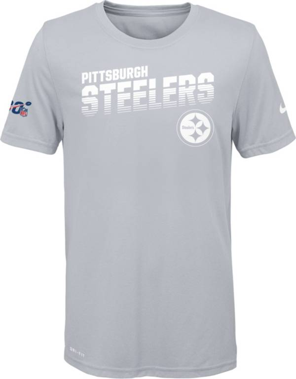 Nike Youth Pittsburgh Steelers 100th Sideline Legend Performance White T-Shirt product image