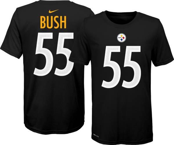 Nike Youth Pittsburgh Steelers Devin Bush #55 Logo Black T-Shirt product image
