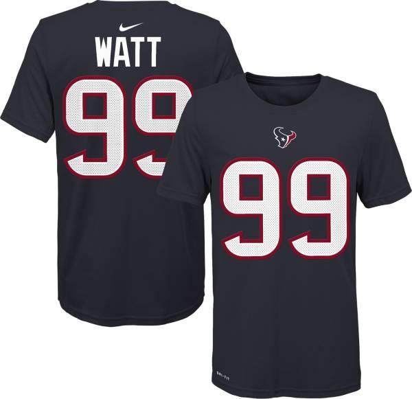 Nike Youth Houston Texans J.J. Watt #99 Logo Navy T-Shirt product image