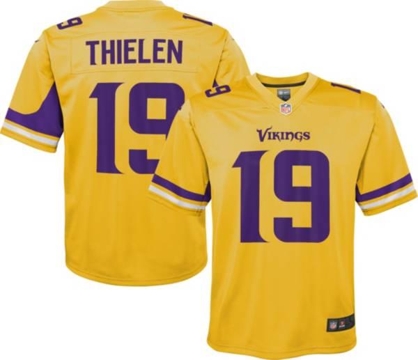Nike Youth Minnesota Vikings Adam Thielen #19 Gold Game Jersey product image