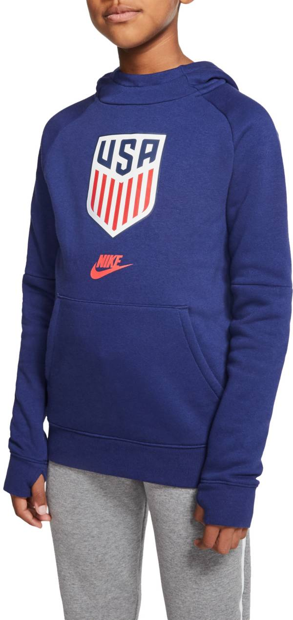 Nike Youth USA Soccer Team Blue Pullover Hoodie product image