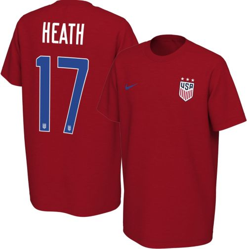 e3d79584f Nike Youth USA Soccer Tobin Heath  17 Red Player T-Shirt. noImageFound.  Previous