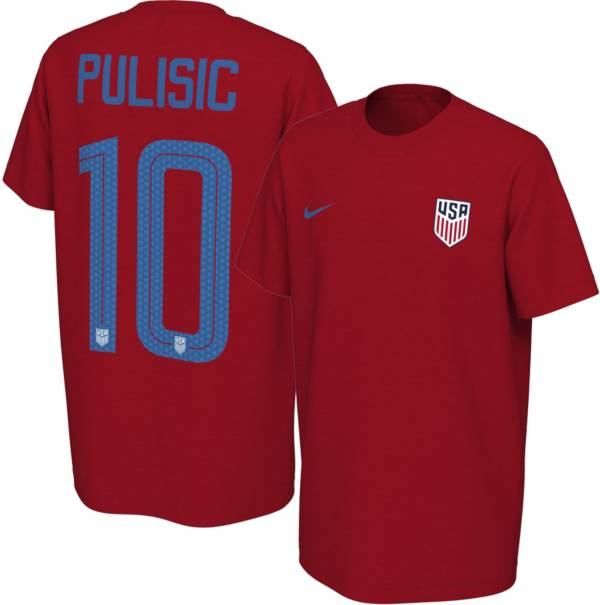Nike Youth USA Soccer Christian Pulisic #10 Red Player T-Shirt product image