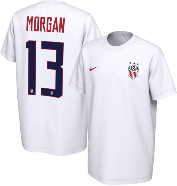 Nike Youth USA Soccer Alex Morgan #13 White Player T-Shirt product image