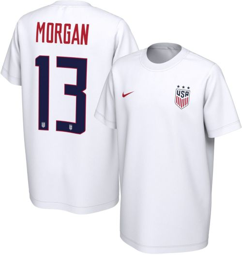 0a65eec86 Nike Youth USA Soccer Alex Morgan  13 White Player T-Shirt