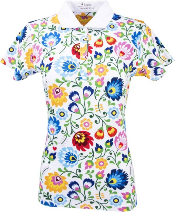 Nancy Lopez Women's Beauty Golf Polo – Extended Sizes product image