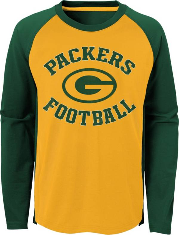 NFL Team Apparel Youth Green Bay Packers Air Raid Long Sleeve Green Shirt product image