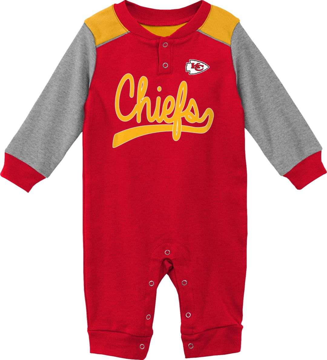 reputable site c81ed 0aa38 NFL Team Apparel Infant Kansas City Chiefs Red Coverall