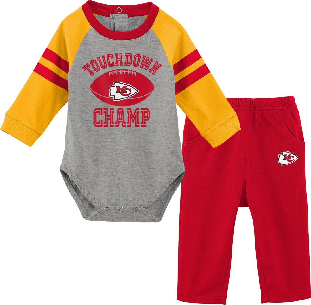 sneakers for cheap ac352 b0eb3 NFL Team Apparel Infant Kansas City Chiefs Touchdown Pant Set
