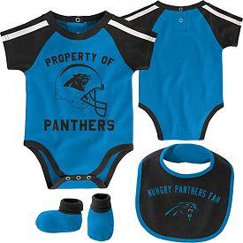 huge discount d552c 23b08 NFL Team Apparel Infant Carolina Panthers Bib/Booties Set