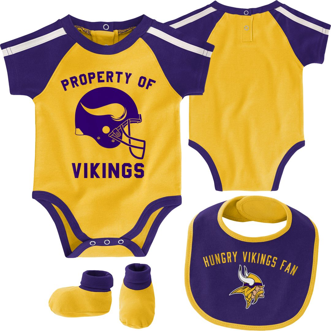 804c08ac NFL Team Apparel Infant Minnesota Vikings Bib/Booties Set