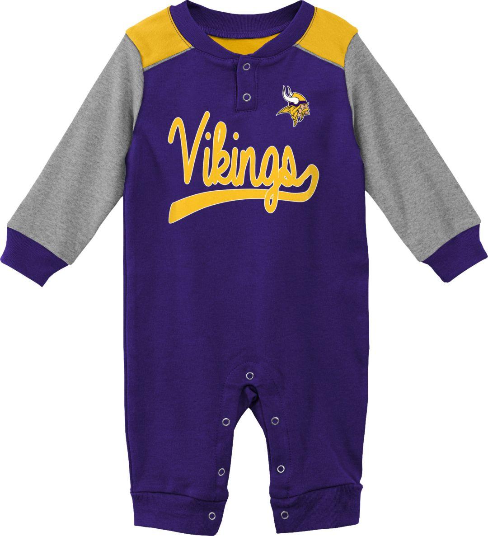 premium selection c33e2 c8552 NFL Team Apparel Infant Minnesota Vikings Purple Coverall