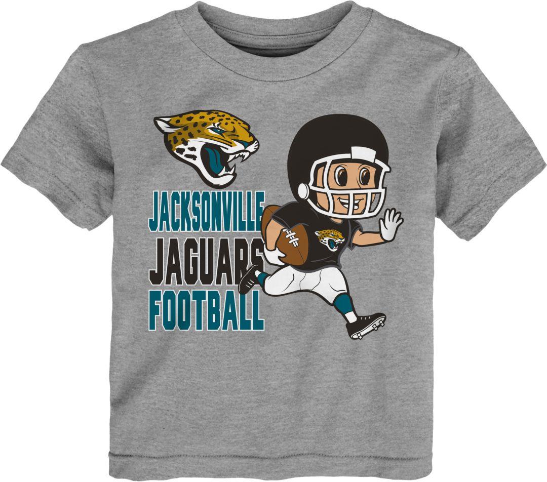 72b429b2 NFL Team Apparel Toddler Jacksonville Jaguars Lil Player Grey T-Shirt