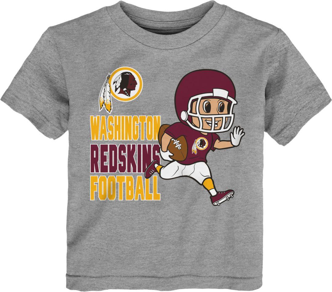 new style db548 ed8a2 NFL Team Apparel Toddler Washington Redskins Lil Player Grey T-Shirt