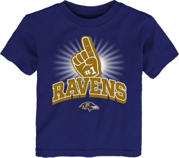 NFL Team Apparel Toddler Baltimore Ravens #1 Fan Purple T-Shirt product image