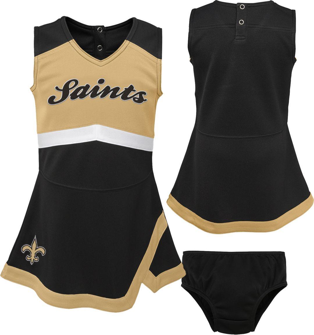 ba539beb NFL Team Apparel Toddler New Orleans Saints Cheer Jumper Dress