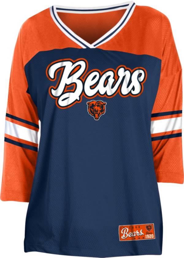 NFL Team Apparel Women's Chicago Bears Mesh Raglan Top product image