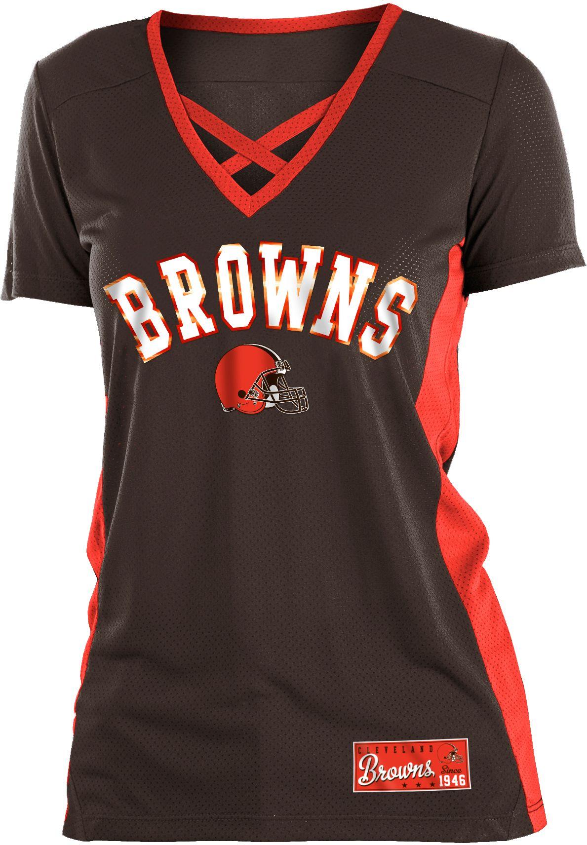 Cleveland Browns Mesh X Brown T-Shirt