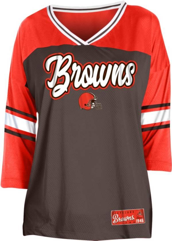 NFL Team Apparel Women's Cleveland Browns Mesh Raglan Top product image