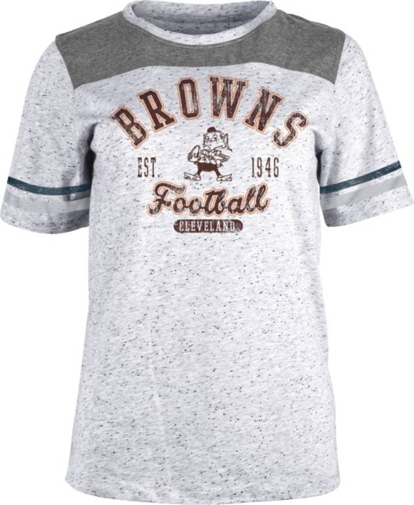 NFL Team Apparel Women's Cleveland Browns Peppercorn T-Shirt product image