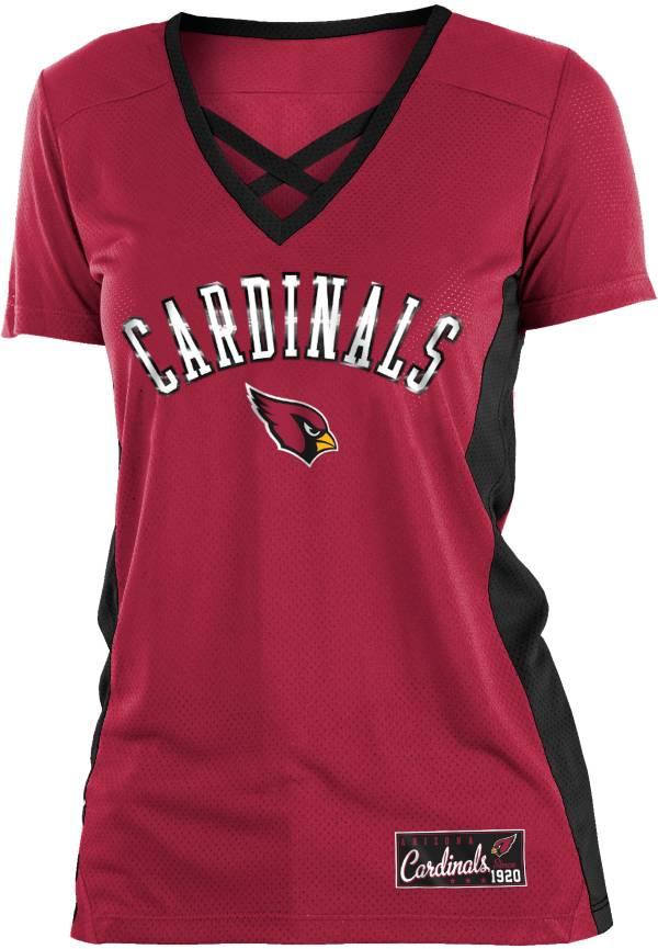 NFL Team Apparel Women's Arizona Cardinals Mesh X Red T-Shirt product image