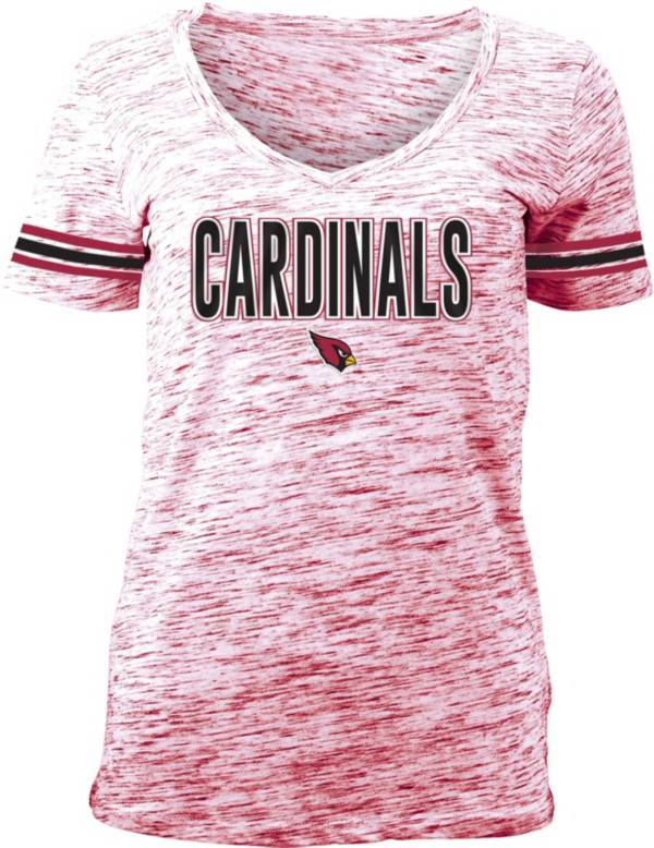 NFL Team Apparel Women's Arizona Cardinals Red Space Dye V-Neck T-Shirt product image