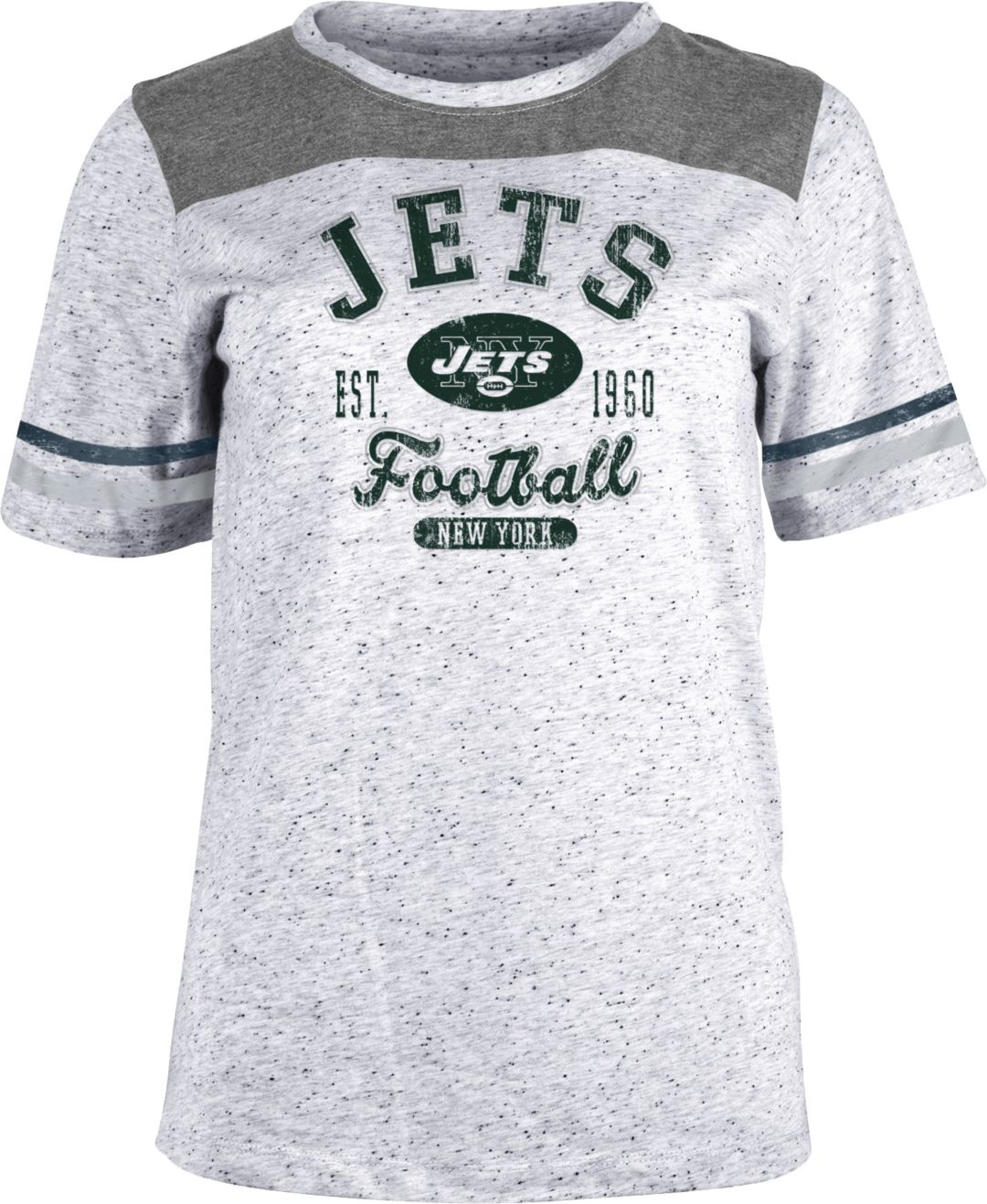 e7f8ea54 NFL Team Apparel Women's New York Jets Peppercorn T-Shirt