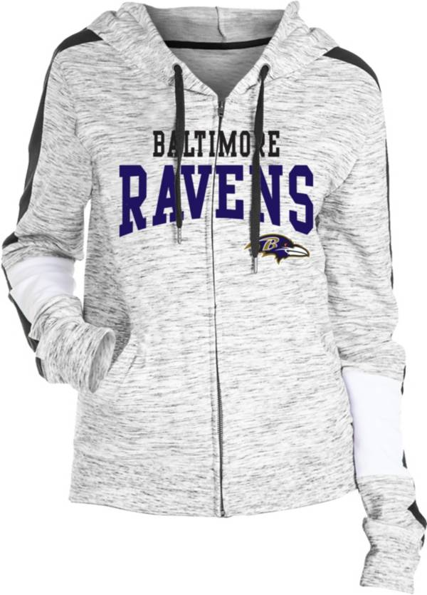 NFL Team Apparel Women's Baltimore Ravens Space Dye Full-Zip Hoodie product image