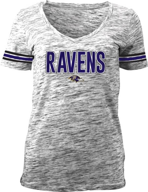 NFL Team Apparel Women's Black Space Dye Black V-Neck T-Shirt product image
