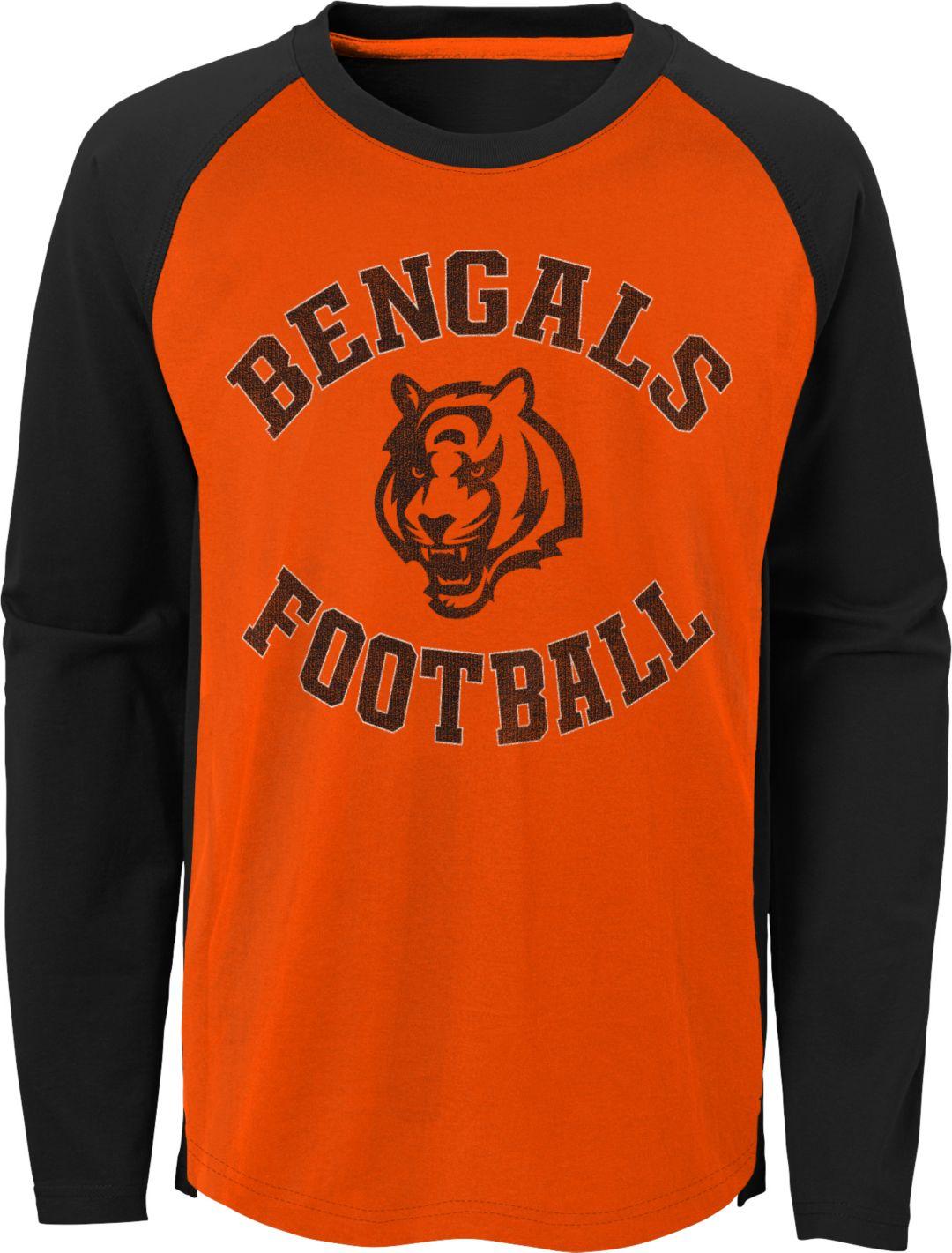 the latest fb206 32791 NFL Team Apparel Youth Cincinnati Bengals Air Raid Long Sleeve Black Shirt
