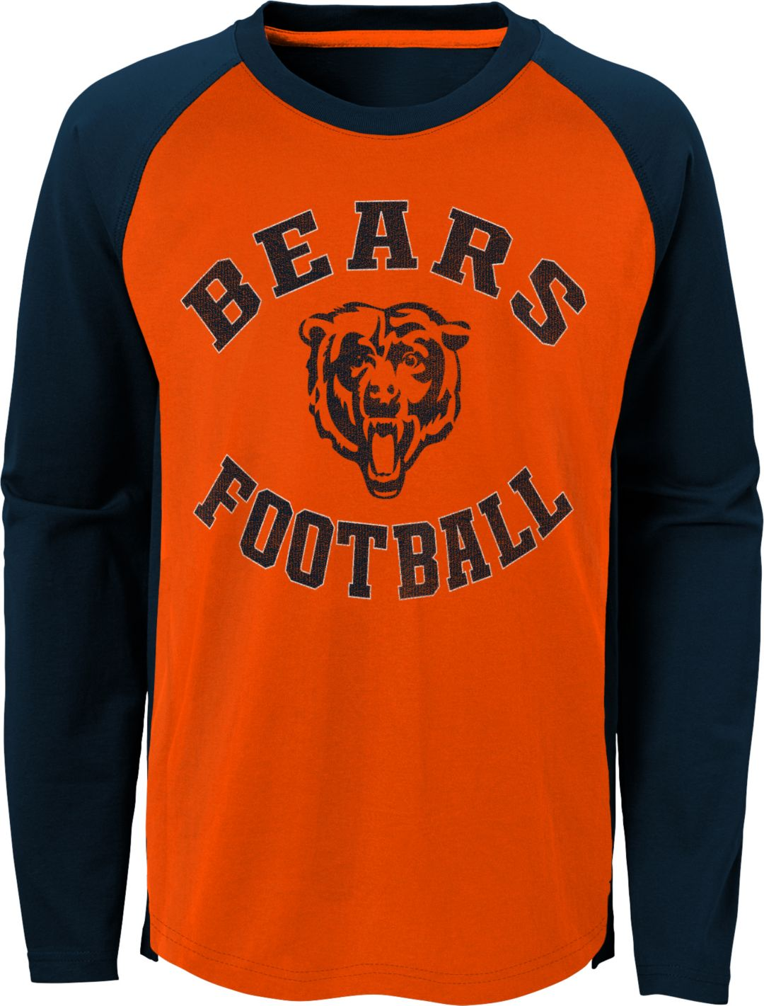 promo code 1e3ee 78cbc NFL Team Apparel Youth Chicago Bears Air Raid Long Sleeve Navy Shirt