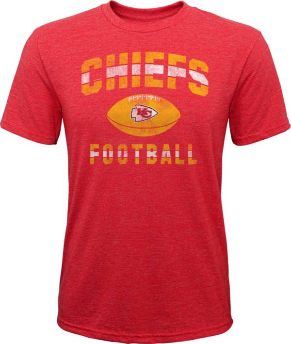 NFL Team Apparel Youth Kansas City Chiefs Big Game Tri-Blend Red T-Shirt product image