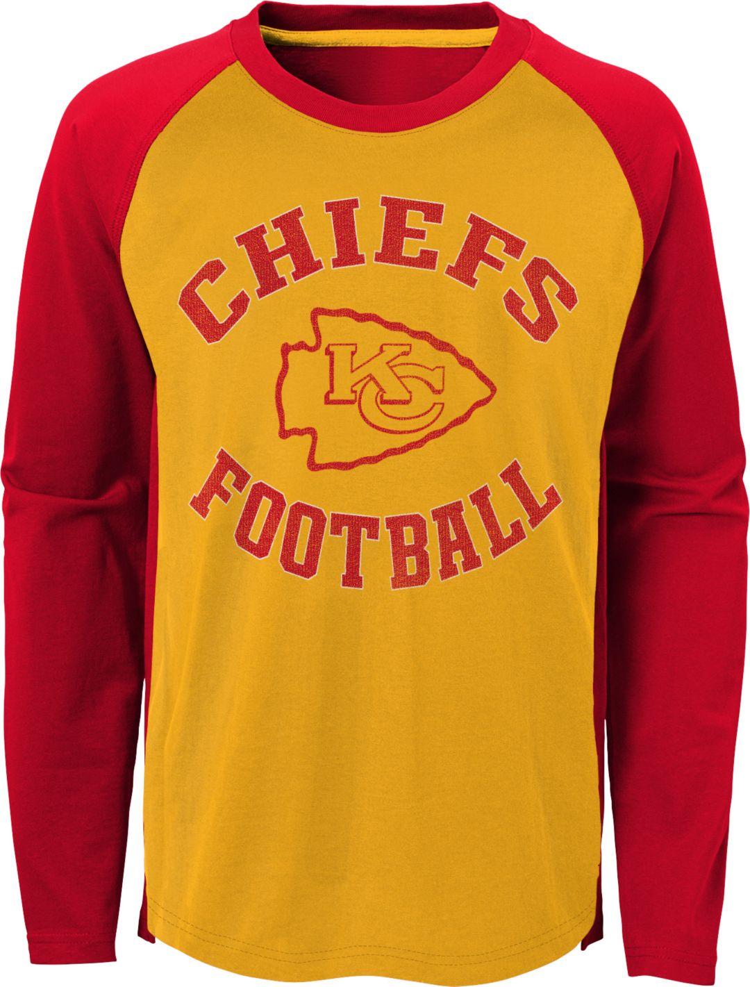 timeless design 8a067 6f5c8 NFL Team Apparel Youth Kansas City Chiefs Air Raid Long Sleeve Red Shirt