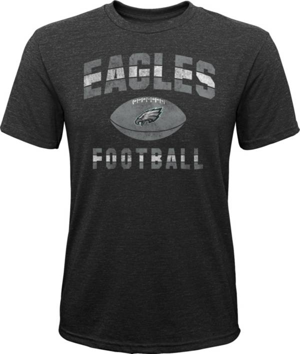 NFL Team Apparel Youth Philadelphia Eagles Big Game Tri-Blend Black T-Shirt product image